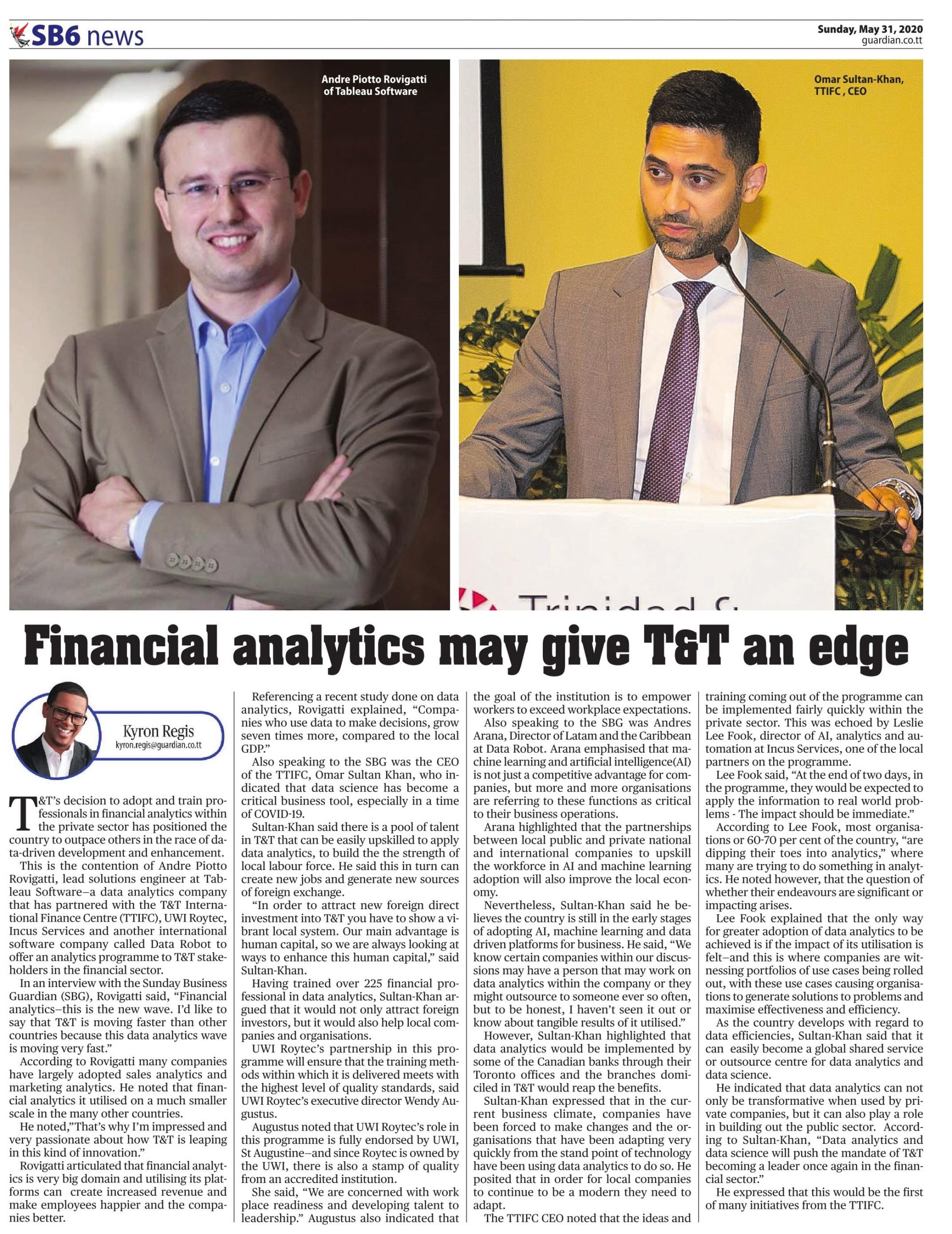 Financial analytics may give T&T an edge