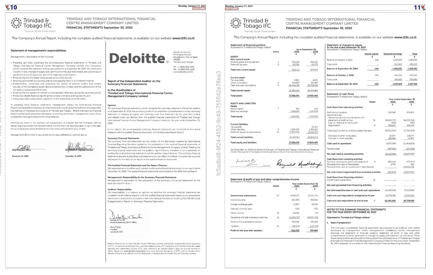 Financial Statements September 30, 2020