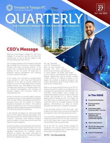 TTIFC Quarterly – Issue 27