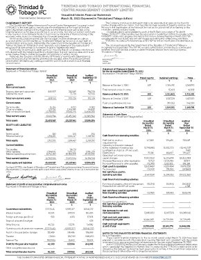 TTIFC Unaudited Interim Financial Statements 2021